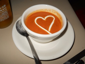 "I ""heart"" Creamy Tomato Basil Soup."
